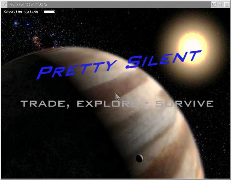 Opening Screen of Pretty Silent